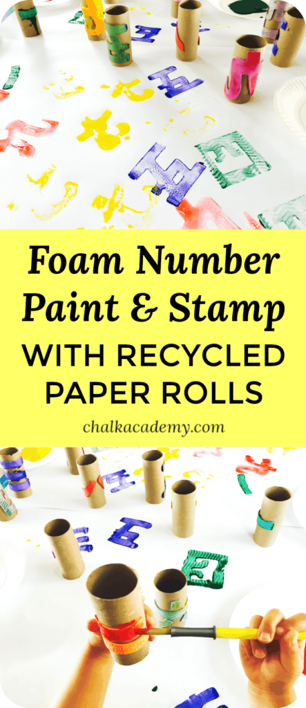 FOAM NUMBERS PAINT & STAMP