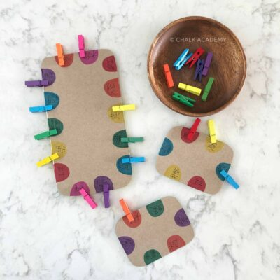 Clothespin Color Matching with Fine Motor Skills and Word Recognition