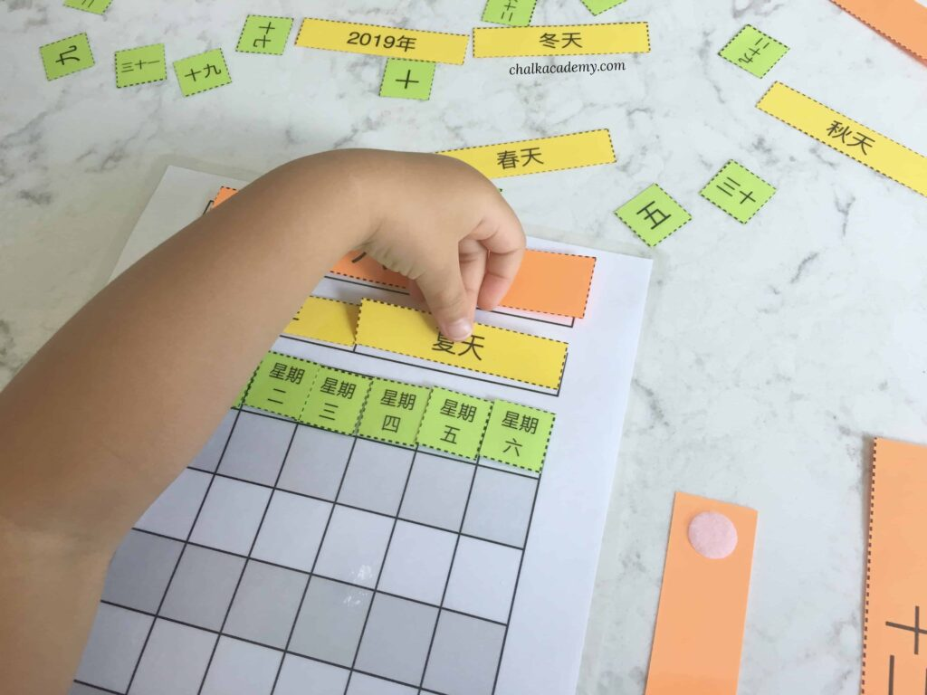 Putting together the interactive printable Chinese calendar