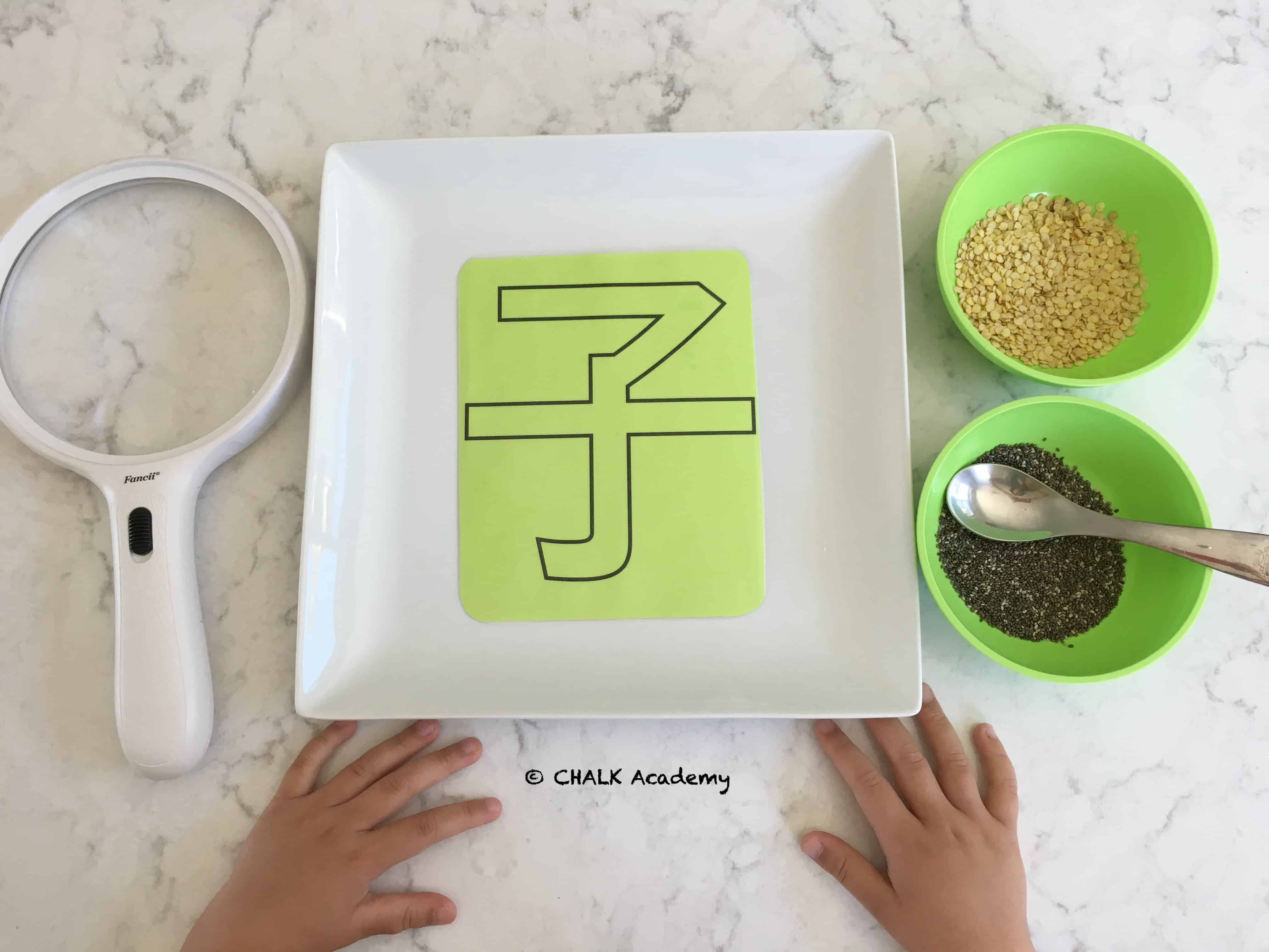 Learn to Write Chinese Character 子 with Seeds