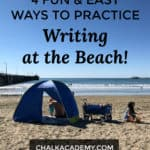4 Fun and easy ways to practice writing at the beach