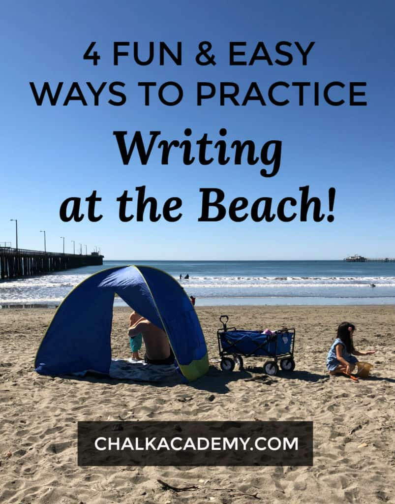4 Fun and easy ways to practice writing at the beach - Teach Chinese characters outdoors