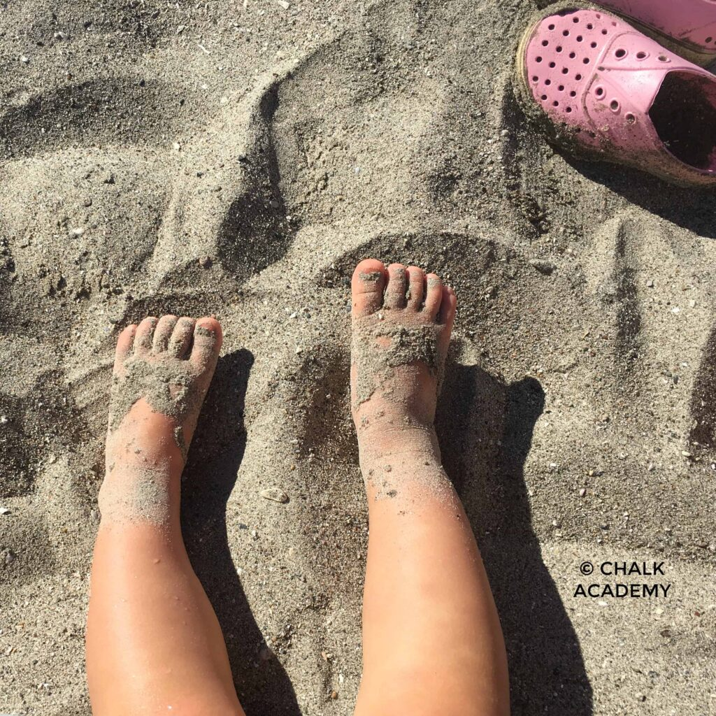 Sandy toddler toes at the beach!