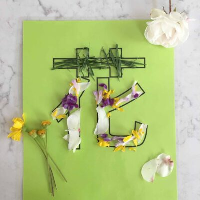 Teach Kids Chinese: Create and Decorate 花 with Flowers and Grass