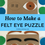 How to Make a Felt Eye Puzzle - Human Anatomy Activity for Kids