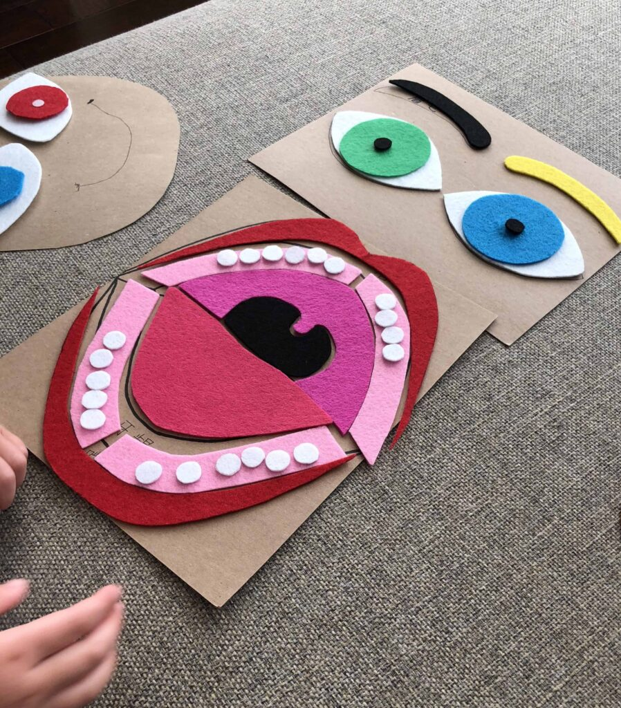 DIY Felt Mouth and Eye Puzzle