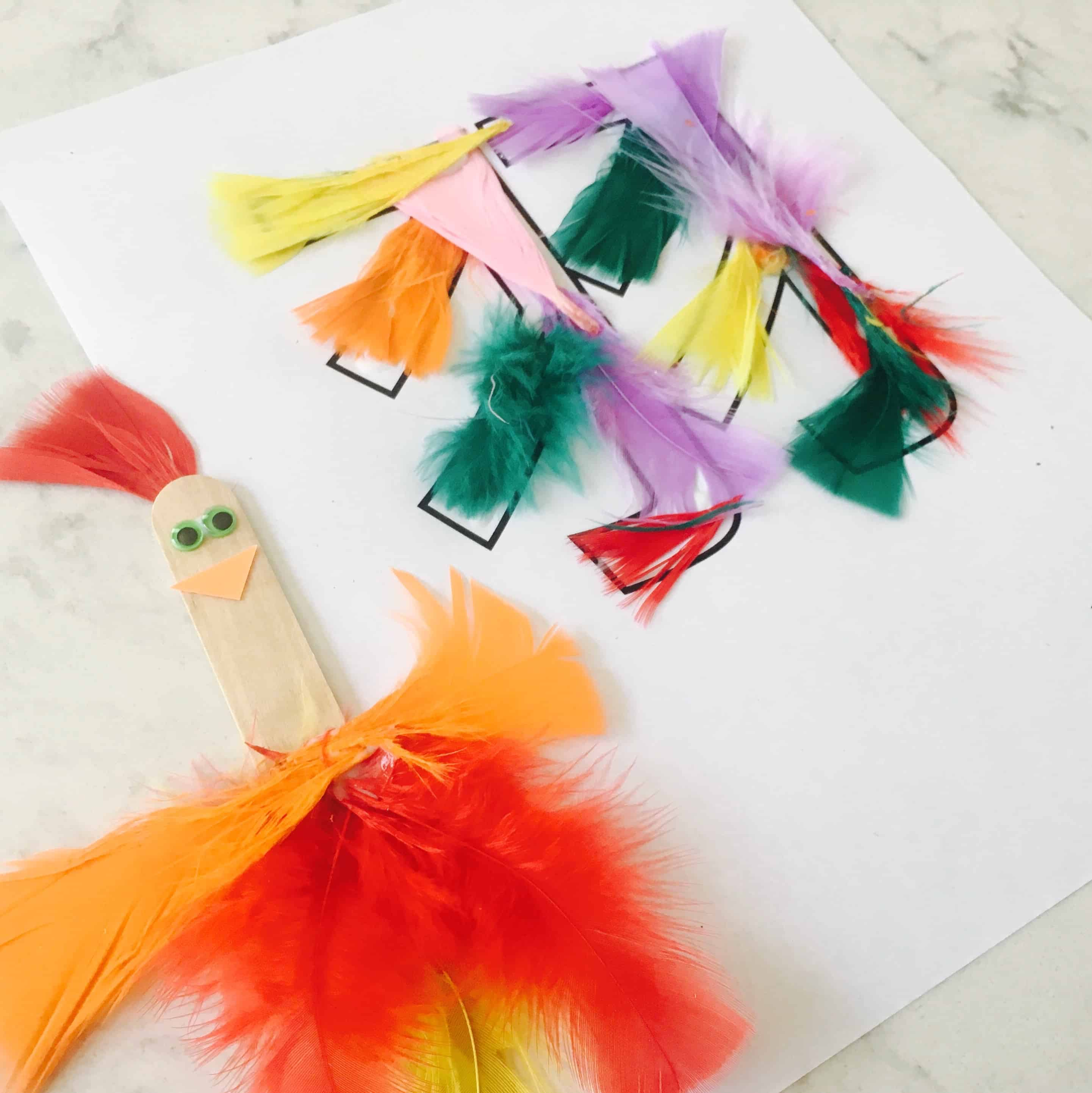 Bilingual Learning About Feathers