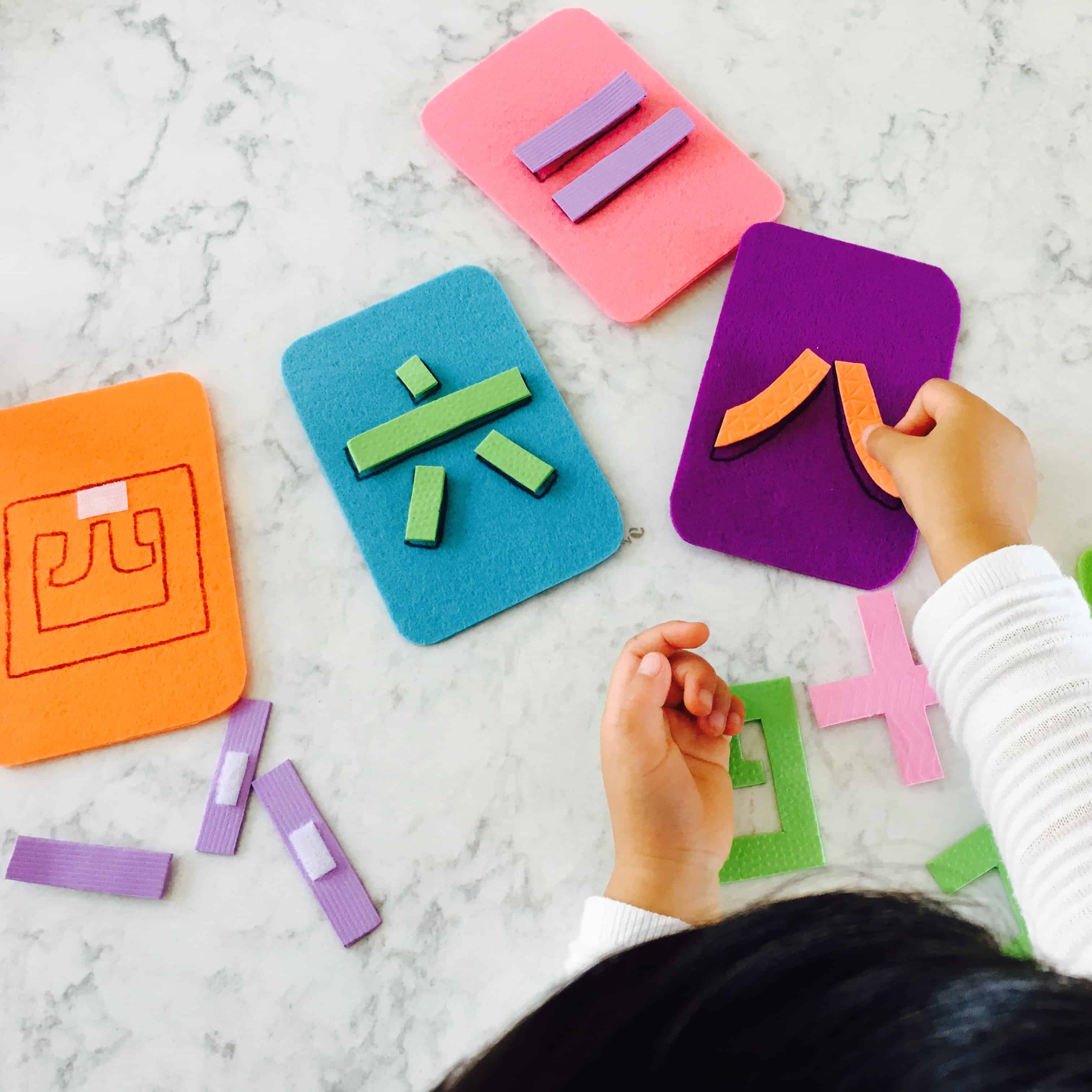 Velcro Chinese Numbers Puzzle – A Hands-On, Educational Chinese Activity for Kids!