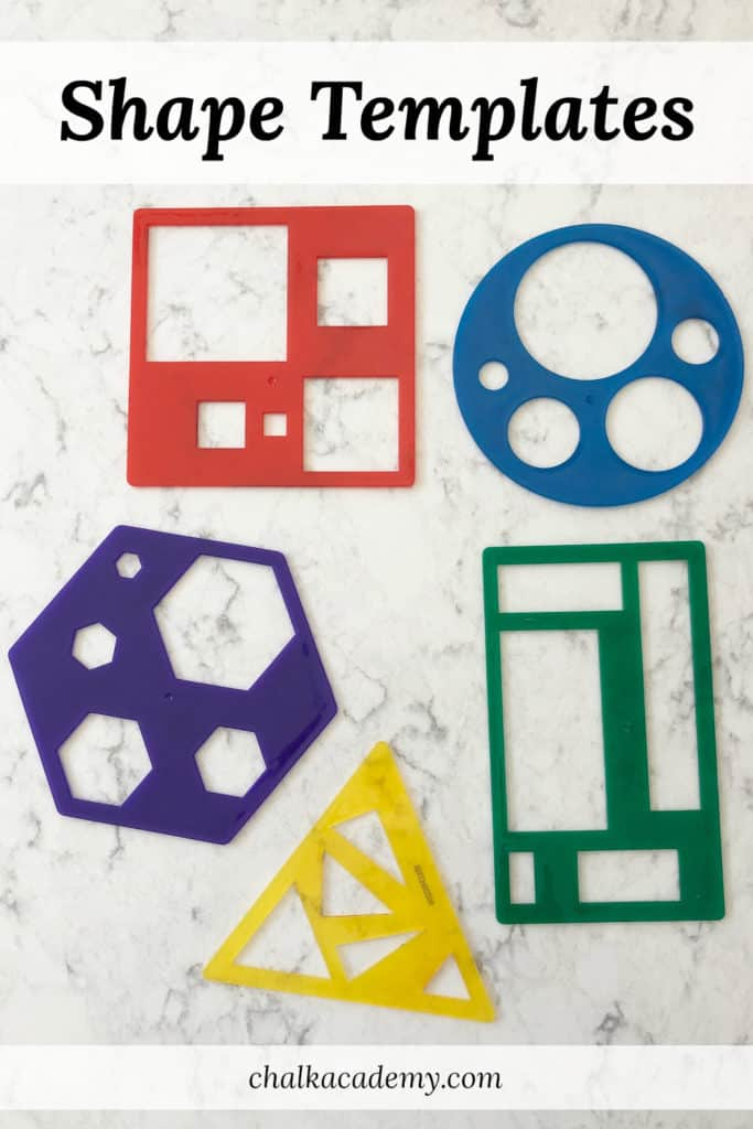 Learning Resources Shape Templates
