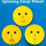 Free printable spinning emoji wheel!
