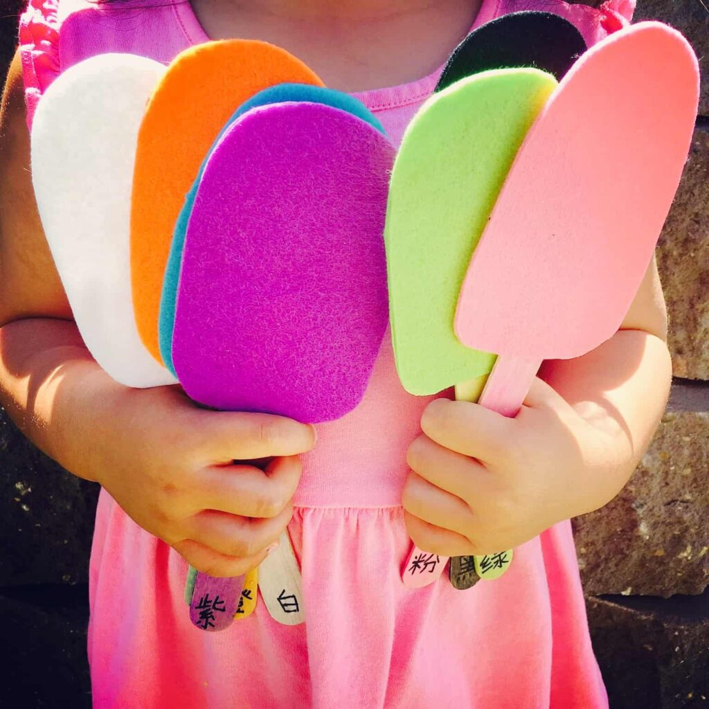 color matching popsicles - color learning activity for kids