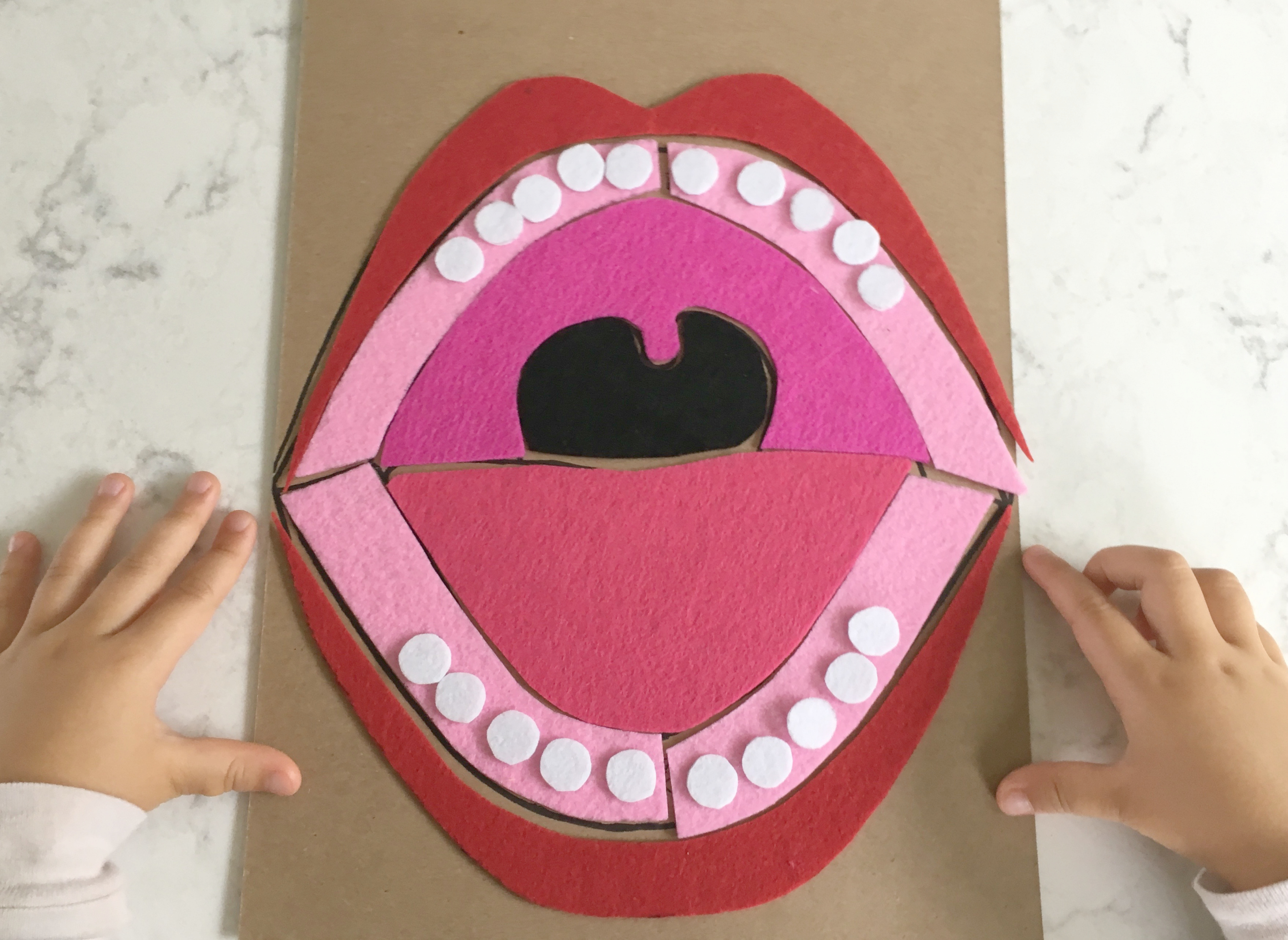Chinese Activities For Kids  Diy Mouth Puzzle With Free