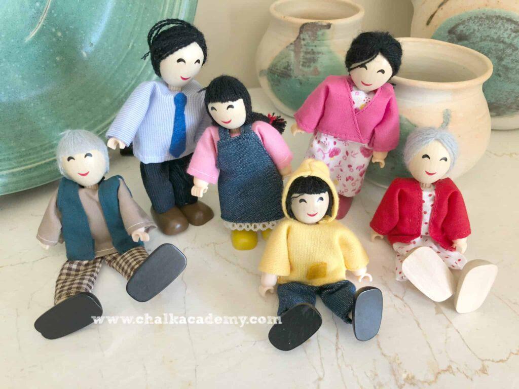 Hape dolls - Asian family: cultural toys for children