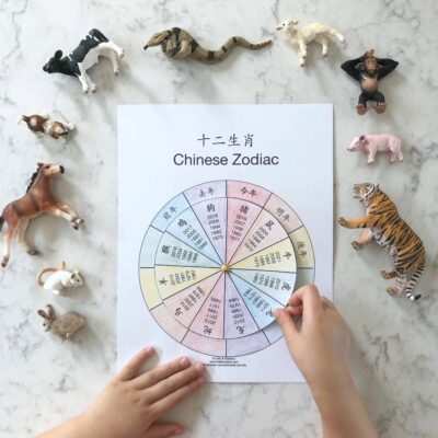 Chinese Zodiac Wheel – Free Interactive Printable in Chinese and English!