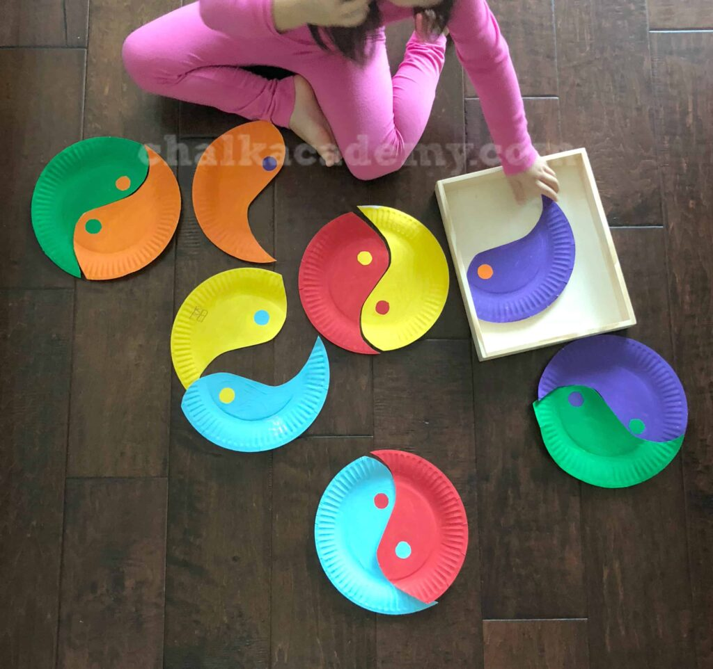 Yin Yang Paper Plate Puzzle CHALK ACADEMY