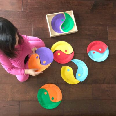 Yin-Yang Paper Plate Puzzle – A Fun Chinese Activity for Kids!