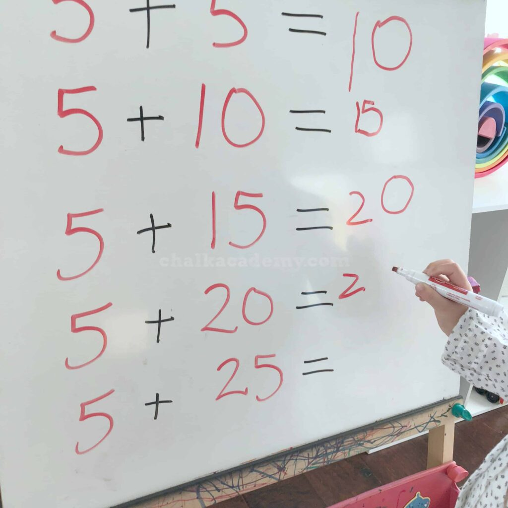 Basic Math (addition) on Melissa and Doug Easel