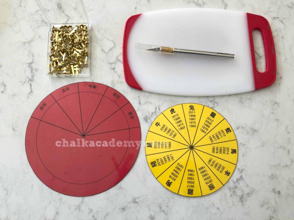 Preparing the Chinese Zodiac Wheel