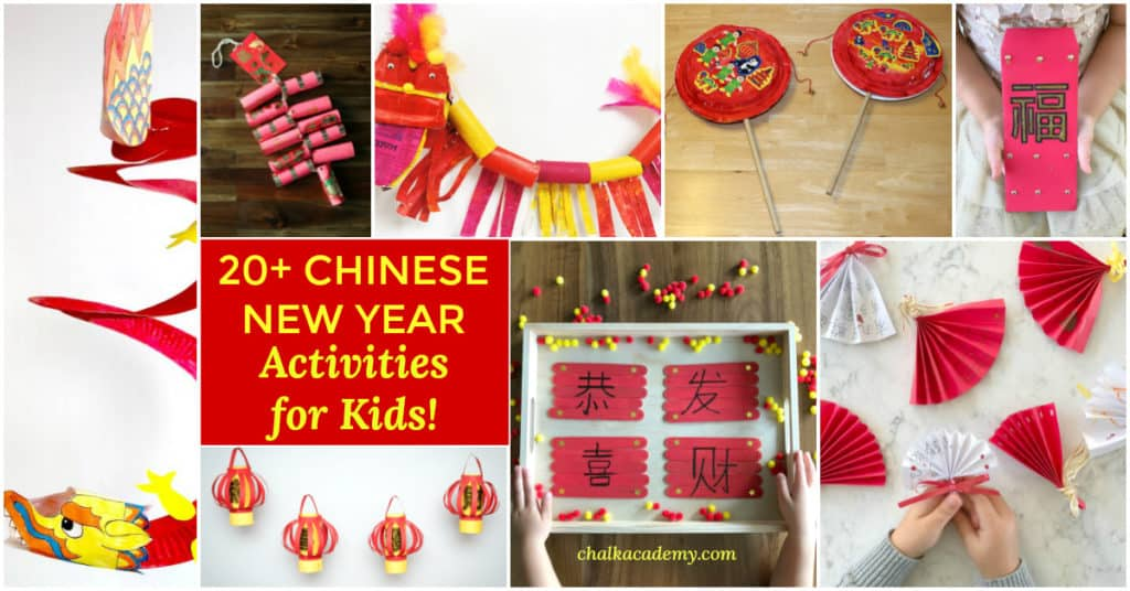 CHINESE NEW YEAR ACTIVITIES AND CRAFTS - Easy ideas for home, preschool, Kindergarten, elementary school