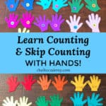 Felt hands skip counting