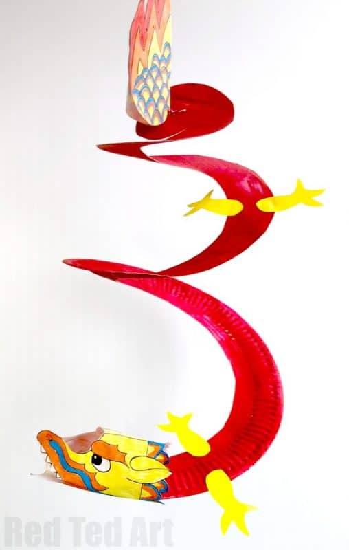 Paper Plate Whirling Dragon from Red Ted Art