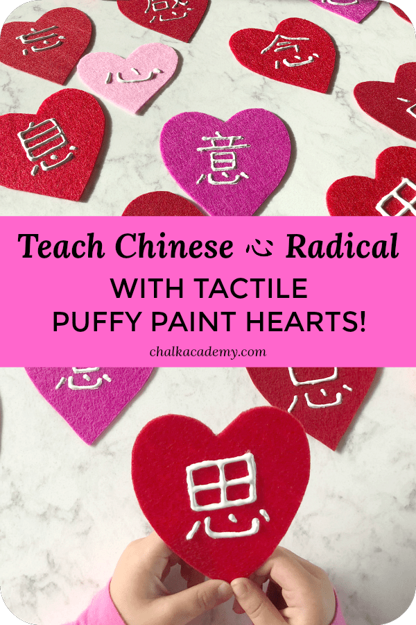 Teach Chinese heart radical words
