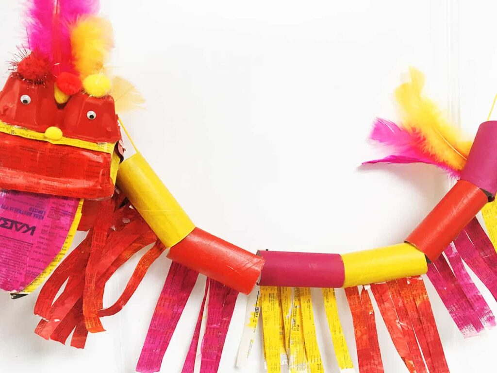 Paper Roll Chinese Dragon Craft from Oh Creative Day