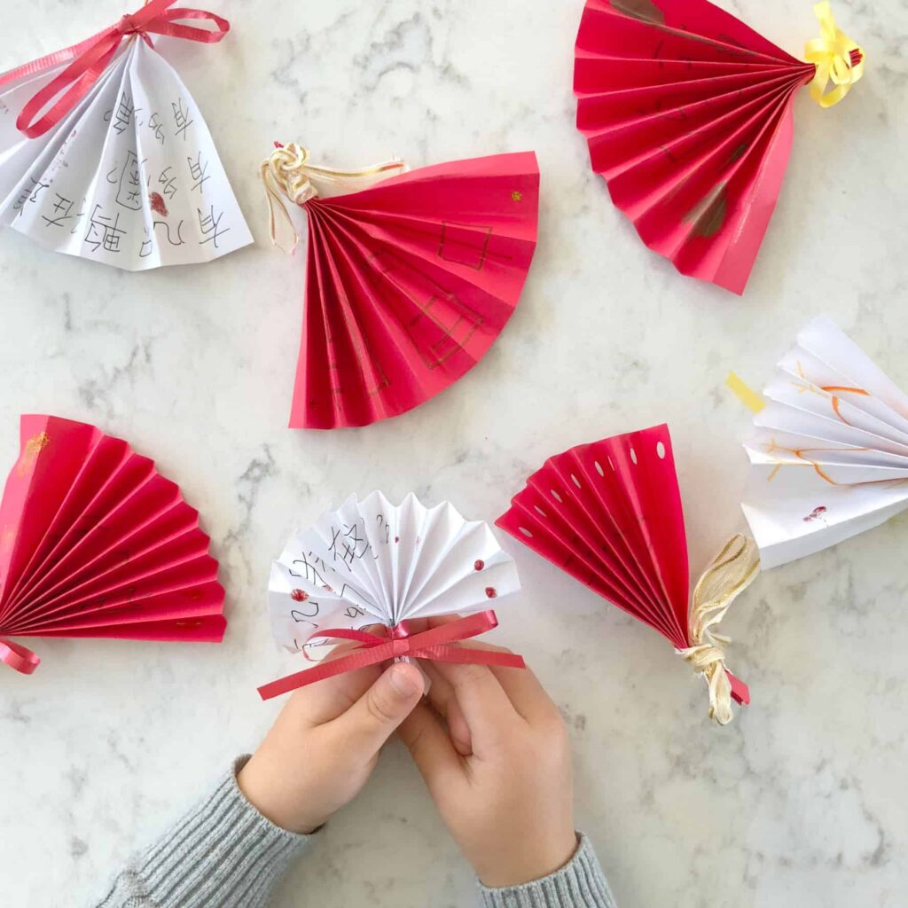 DIY Chinese folding fans easy craft from CHALK Academy
