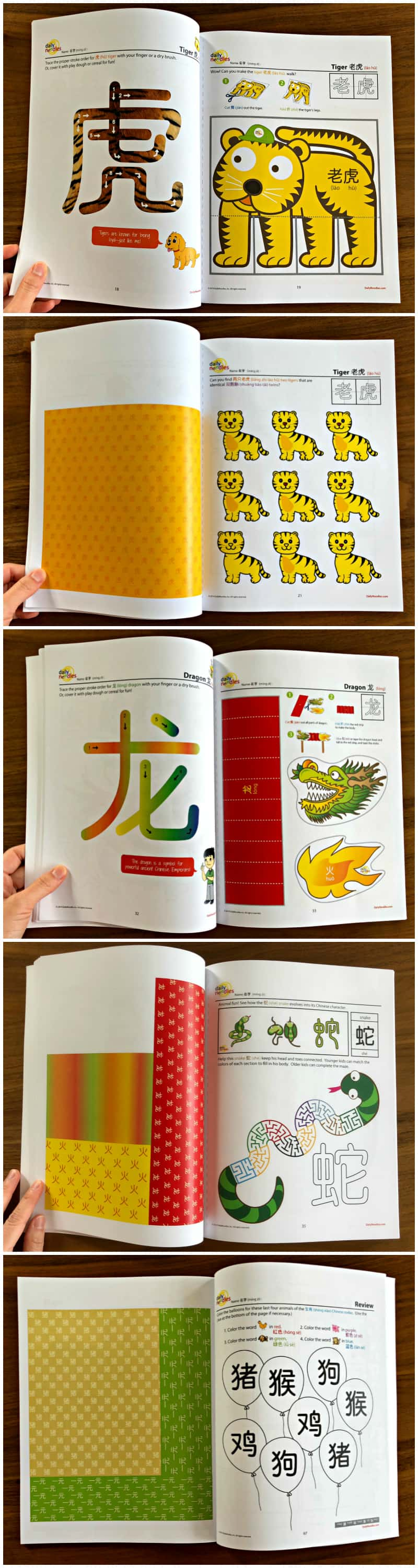 Daily Noodles Chinese Animal Activity Books