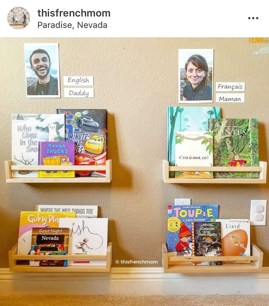 This French Mom - Bilingual family bookshelves for kids