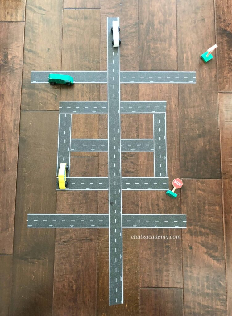 Learn the Chinese Word 车/車 (Chē / Car) with Road Tape!