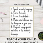 Teach second language with 5 key steps