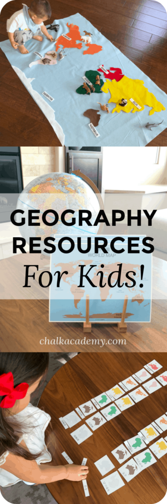 Montessori Geography resources for kids learning English, Chinese, & Korean!