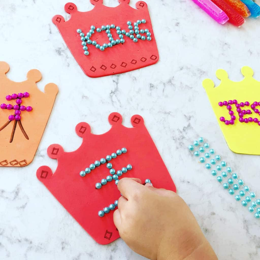 Jesus Crown Craft and Coloring Pages in Chinese