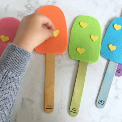 Number Matching Popsicles – Playful Way to Learn Basic Counting