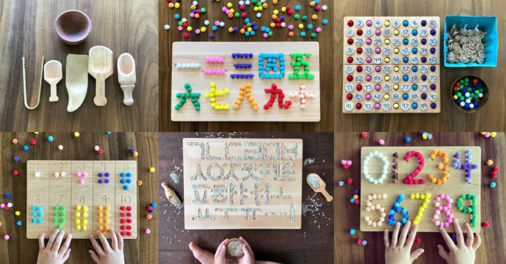 Montessori Math, Hundred Board, Wood tracing board, Fine Motor Skills, Preschool, Homeschool, Elementary school on Etsy