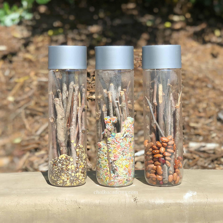 Rainstick Sensory Bottles - A Musical Activity for Kids