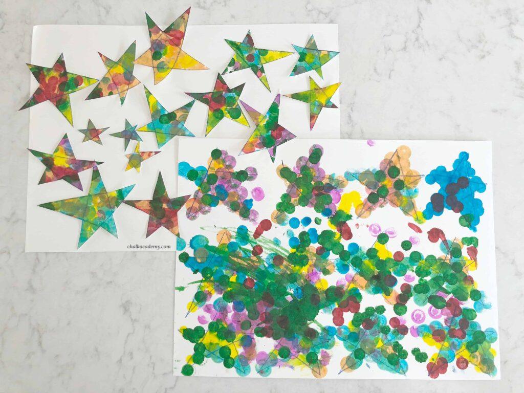 画一个星星给我 (Draw Me a Star) by Eric Carle book-based craft