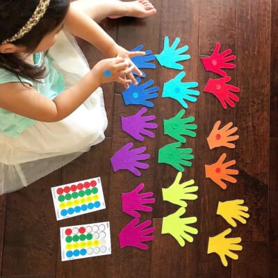 Left Versus Right Hand: How to Teach Your Child Left and Right with Stickers!
