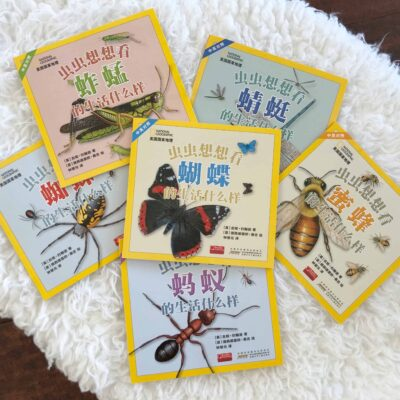 National Geographic Insects Science Books for Kids in Chinese, Pinyin, English