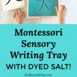Montessori Sensory Salt Writing Tray and Chinese character cards