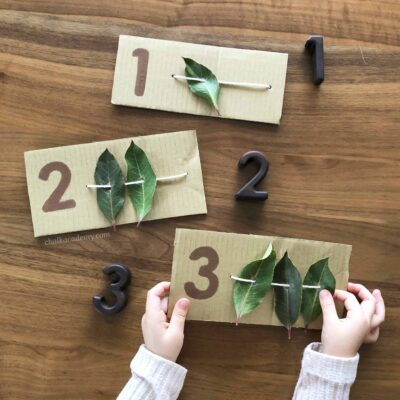 5 Easy Fine Motor Math Activities with Hole-Punched Leaves!