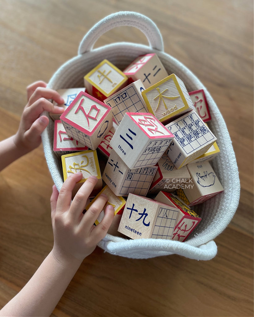 Uncle Goose Chinese Wooden Blocks - Chinese characters language learning toy