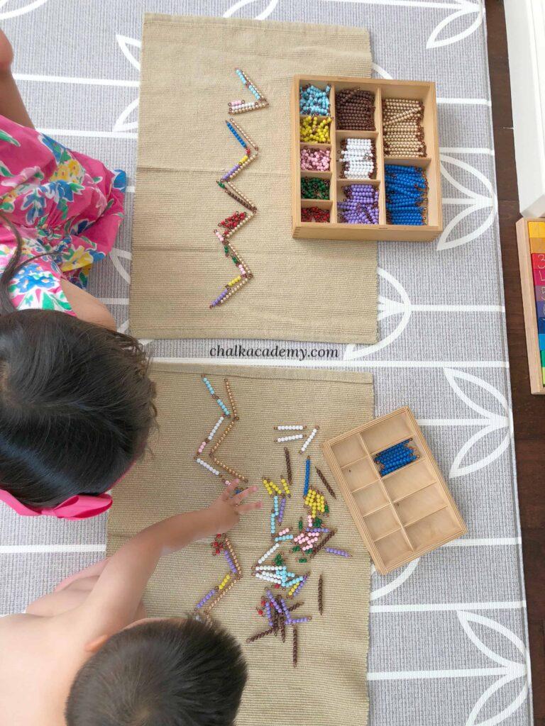 Montessori snake game
