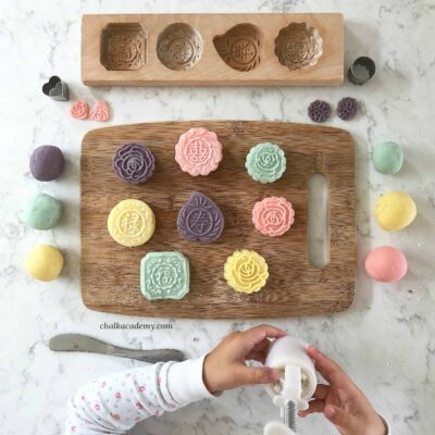 Playdough Mooncakes – Mid-Autumn Festival Activity with Recipe!