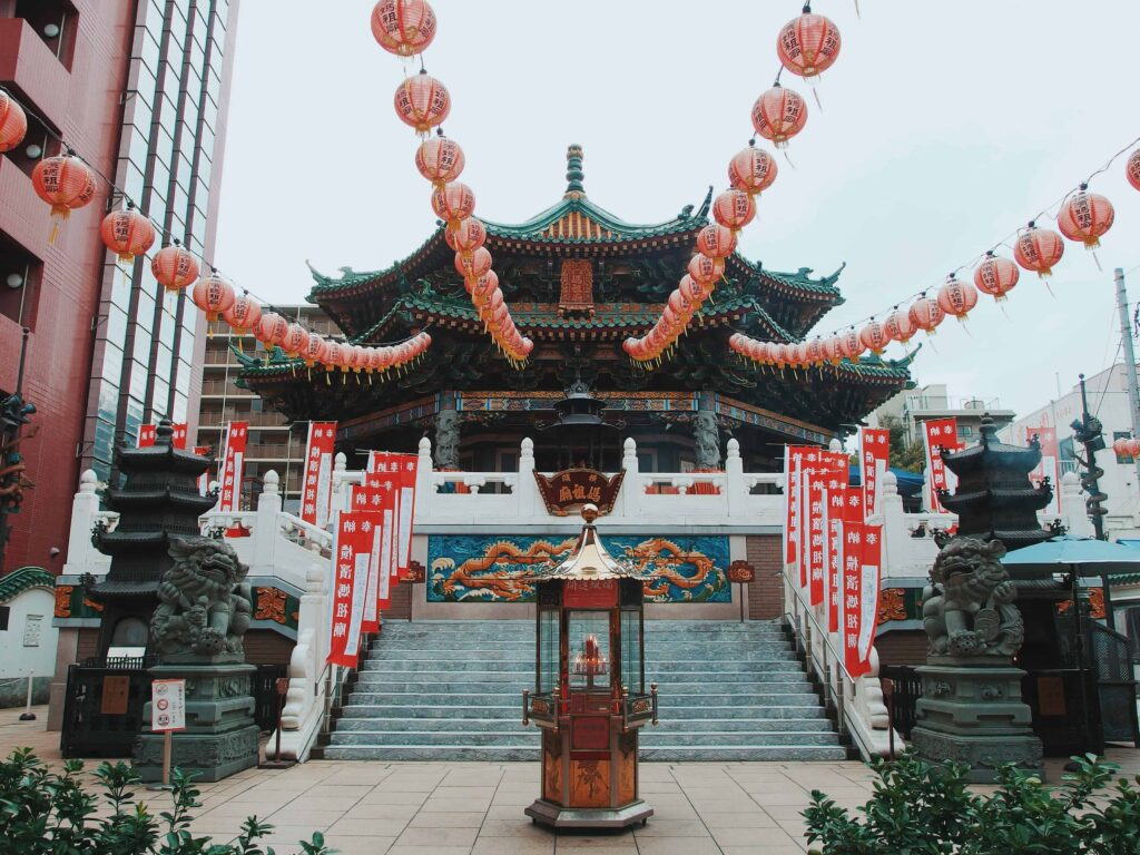 Chinese architecture with symmetry, balance, and harmony