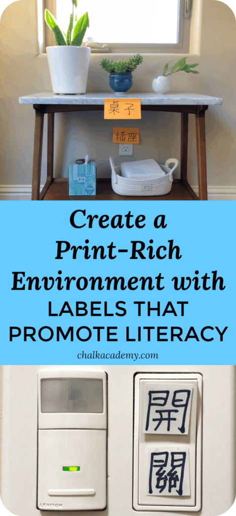Create a Print-Rich Environment with Labels that Promote Literacy