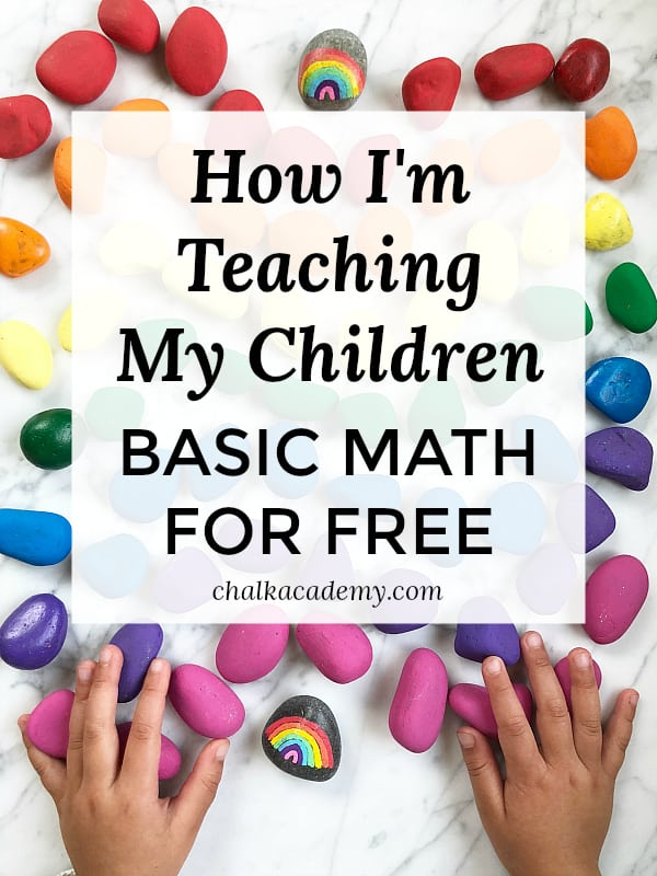 How I'm Teaching My Children Basic Math For Free and Without Workbooks