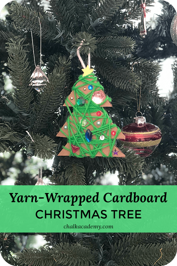Yarn-wrapped Cardboard Christmas Tree
