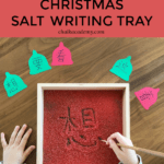 Christmas Salt Writing Tray inspired by Maria Montessori